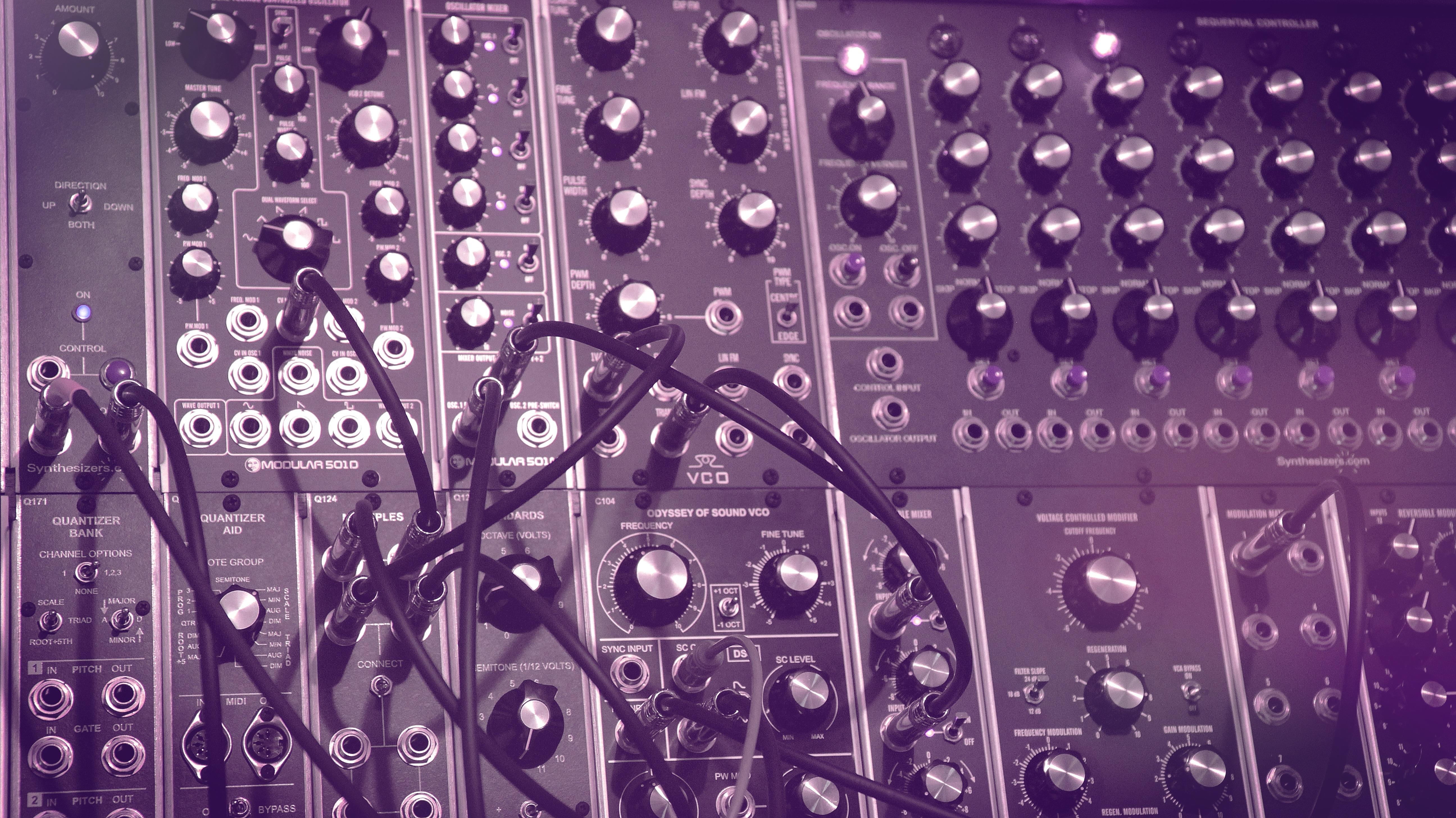 Lowgritt's Studio 44 cabinet MU Modular Synthesizer